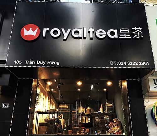biển quảng cáo royal tea