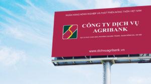 thiết kế biển quảng cáo agribank